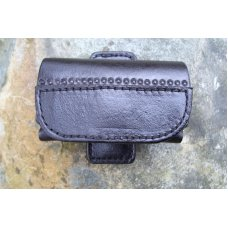 Leather Cell Phone Case - Sideways Carry - Magnetic Closure - Belt Cilip - Fits iPhone & Droid