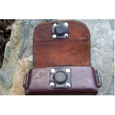 Leather Cell Phone Case - Sideways Carry - Magnetic Closure - Belt Loop - Fits iPhone & Droid