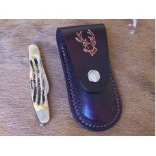Handmade Leather Pocket Knife Case Small Upright
