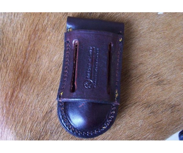 Leather Knife Pouch -  Up Right & Sideways Carry - Fits Knives Up to 5