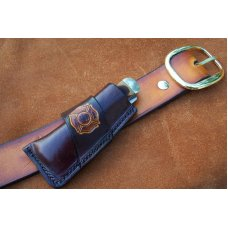 Custom Leather Sidewinder Knife Pouch Fits Pocket Knives Up To 5-1/2