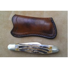 Custom Leather Pocket Sheath For Pocket Knives - Up to 5