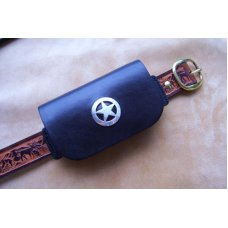 Custom Leather Cell Phone Case - Sideways Carry - Belt Clip -  Fits Smartphones - iPhone & Droid