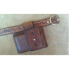 Custom Leather Cell Phone Case- Brown Oil Stain - Leather Drop Belt Loop - Fits iphone & Droid