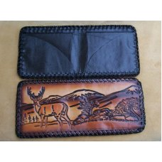 Custom Leather Men's Wallet - Bi-fold - Pre-made
