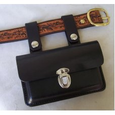 Custom Leather Cell Phone Case- Detachable Leather Belt Loops - Fits iPhone & Droid