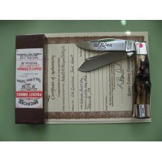 SCHATT & MORGAN CUSTOM LARGE STAG GUNSTOCK JACK KNIFE