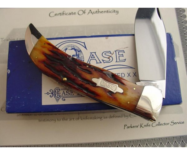 Case XX Classic 1072 Red Stag Handle Clasp Knife Prototype