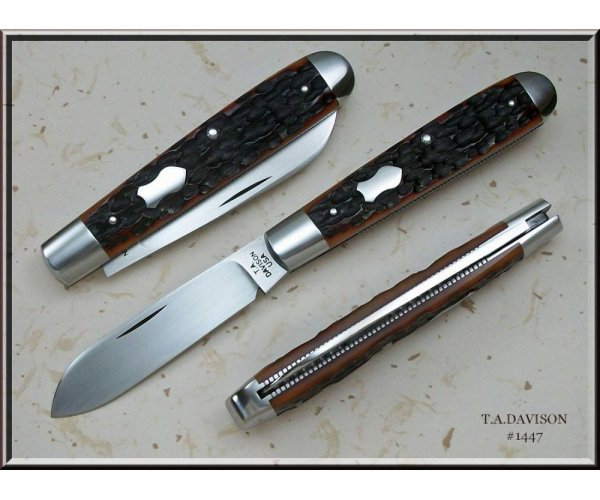 Todd Davison Custom Red Mahogany Jig Bone Folder---It's Special! #1447