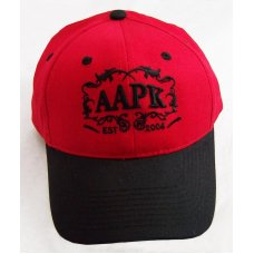 Red  Black Colored All About Pocket Knives Hat  With  Black Embroidery