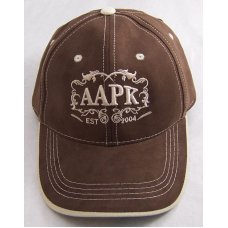 Brown Colored All About Pocket Knives Hat  With Tan Accents  Embroidery