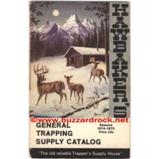 HAWBAKERS TRAPPING SUPPLY CATALOG 1974-1975 Seasons QUEEN CASE