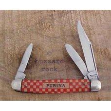 Checker Board PURINA Chow Ad Knife KUTMASTER UTICA N.Y.