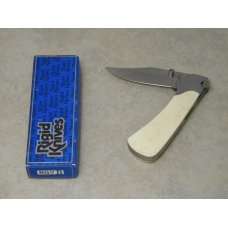 Rigid RG-7 Surgical Steel Japan Plain Edge Bone & Metal Large Locking Blade Thumb Stud Knife in Box