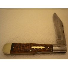 Miller Bros Cutlery Co. - Long Pull Lock Back Folding Hunter - Bone Handles - Circa 1872-1926
