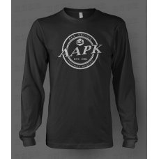 Black All About Pocket Knives (AAPK) Long Sleeve T-Shirt - High Quality 6 oz. Heavyweight Cotton
