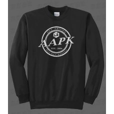 Black All About Pocket Knives (AAPK) Crewneck Sweatshirt - 9 oz. 50/50 Cotton/Poly Fleece
