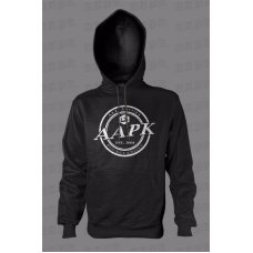 Black All About Pocket Knives (AAPK) Hooded Sweatshirt - 9 oz. 50/50 Cotton/Poly Fleece