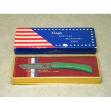 Case XX USA 1974 Green G137 Kentucky Bicentennial Knife in Box