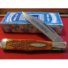 Case Classic Tan Roger's Bone Coke Bottle Single Blade Hunter 61050