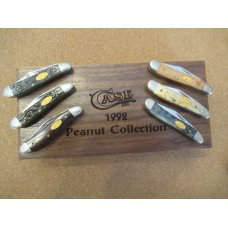 1992 Case XX Peanut  Collection 6 Knife Set in Walnut Display