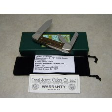 "Canal Street Cutlery Co. USA Rosewood #3131336 D2 Steel ""5th Year"" Cannitler Knife in Box c.2009"