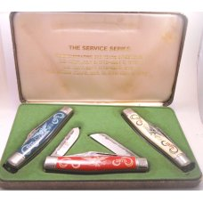 Service Series Knife Set 1775 - 1975 Army, Navy, Marines