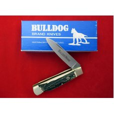 Bulldog Brand Large Stag One Blade Lockback Knife Hercules 4 1/8 Awesome 2000 Y2K