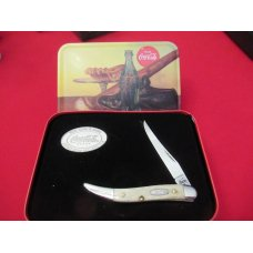 Case XX Coca- Cola Tiny Texas Toothpick Natural Bone Handles Pattern # 610096 SS