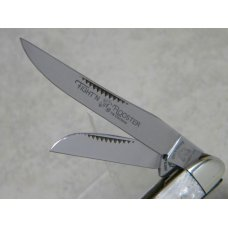 Fight'n Rooster Germany Celebrated Stainless Snakeskin Pearl Stockman Knife
