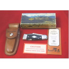 "Western USA S-533 ""B""  Westlock Knife Sheath & Box 1978  Mallard Duck Etch Like New Diamond Shield"
