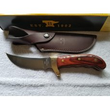 Buck 401RWS Kalinga knife with brown leather sheath. NIB. FREE SHIPPING