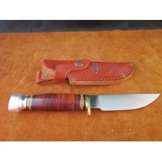 SOLD Marbles USA Plainsman Knife 80502 Leather/Al handle 11-30
