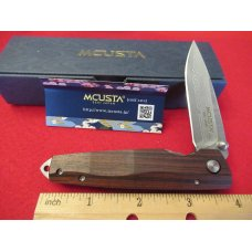 Mcusta  Liner Lock Rosewood Gents Knife Damascus  Model MC-0053DR