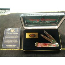Case XX 9254 SS 2-Blade Trapper Folding Knife Merry Christmas Commemorative Edition # 394