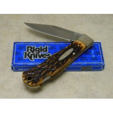 Rigid USA (Made by Camillus) Delrin RG77 Bear Tooth Lockback Knife in Box