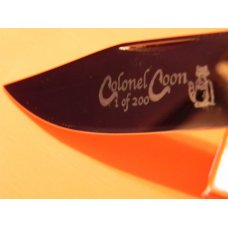 Colonel Coon Large Mountain Man Lock Back Hunting Pocket Knife w Bone Handles & One of 200 +Orig Box