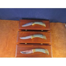 1980's Browning Jade Series Knives matched set of 3