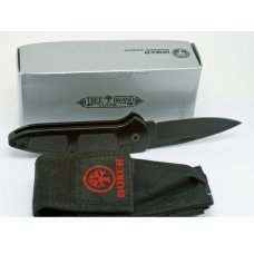 Boker Switchblade - Solingen Germany Tree Brand - NIB W Sheath -  Black -  4 34quot CLOSED BLADE