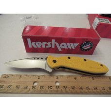 Kershaw Yellow Handle Scallion Model # 1620YL
