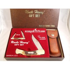 Schrade Uncle Henry SGS-4 Gift Set USA  Mint