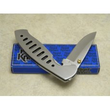 Rigid RG-1 Surgical Steel Japan Plain Edge Metal Linerlock Knife in Box