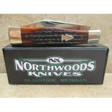 Northwoods Knives Gunstock Jack Knife in Itallian Jigged Bone
