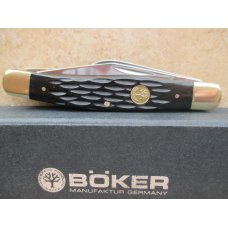 Boker Stockman    Black Jigged Bone