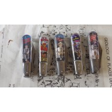 Novelty Knife Cowboy Movie Hero 5 piece cllection