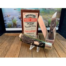 Schatt and Morgan Sway Belly Trapper in Deep Green Bone From the 6th Anniversary Series