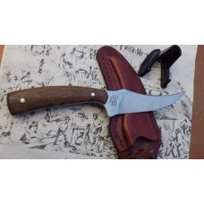 Camillus Sharpfinger Fixed Blade with Whiskey Barrel Oak Stave Handles