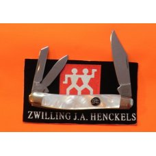 Zwilling J A Henckels Premium 3 Blade Whittler pocket knife with FIERY Mother of Pearl Handles -NM