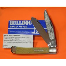"Bulldog 5 &1/2"" Display Trapper Knife w Waterfall Handles & King of the Pit Lucky Blade Etch 1 of 60"