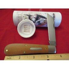 Great Eastern Cutlery Natural Canvas Micarta Ram Foot Pattern # 933119